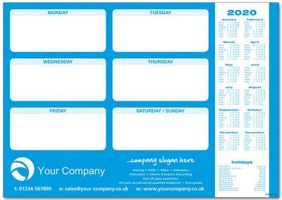 Template 19 with Calendar