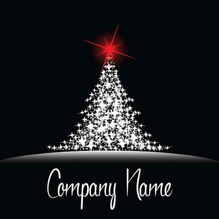 1659 - Shining Brightly Branded Christmas Card
