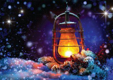 1687 - Christmas Lantern Branded Christmas Card
