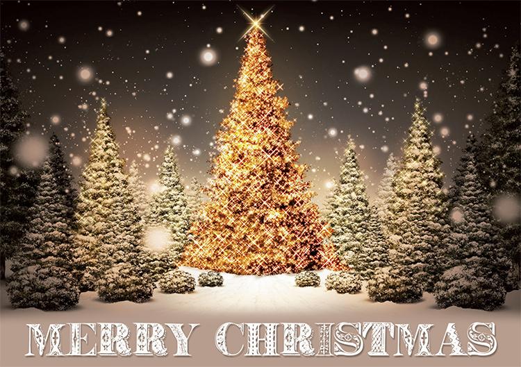 1689 - Golden Forest Branded Christmas Card