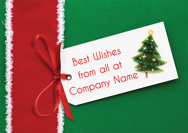 1602 - Tree Label Branded Christmas Card