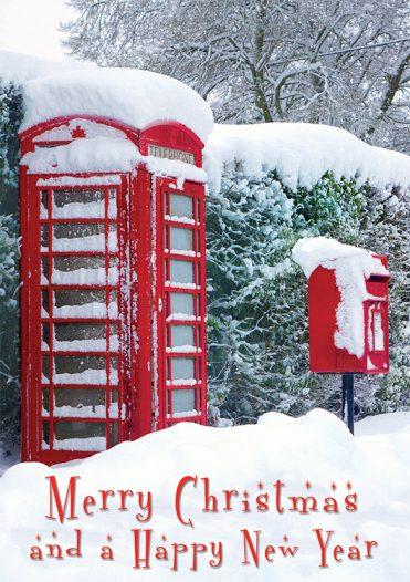 1603 - Fresh Snowfall Branded Christmas Card
