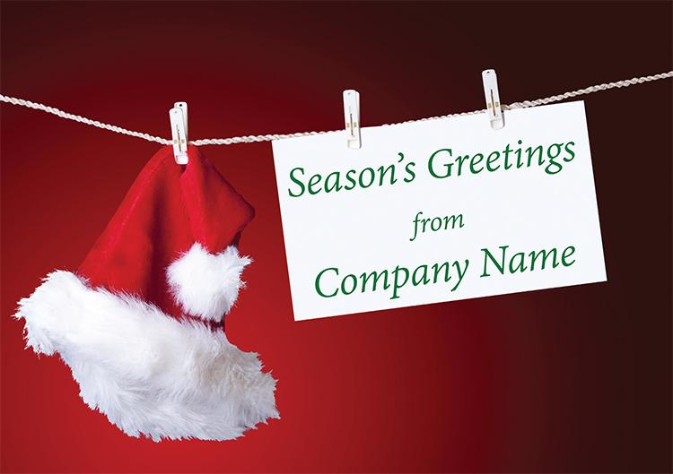 1608 - Santa's Washing Line Branded Christmas Card