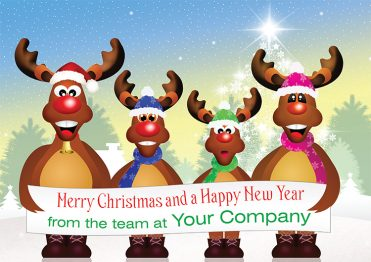 1625 - The Four Rudolfs Branded Christmas Card