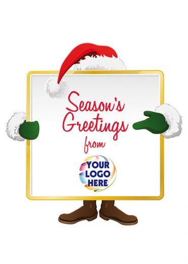 1626 - Santa's Logo Sign Branded Christmas Card