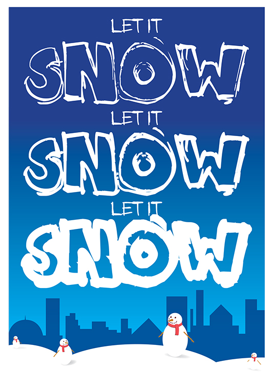 1627 - Let it Snow Branded Christmas Card