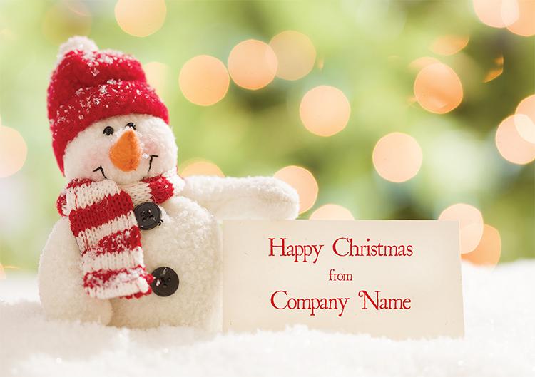 1629 - Snowman Sign Branded Christmas Card