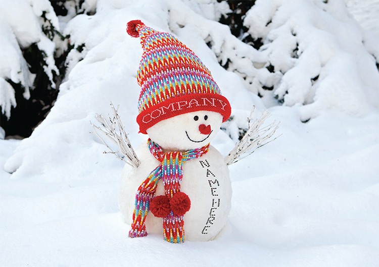 1648 - Colourful Snowman Branded Christmas Card