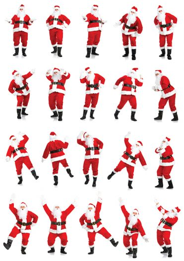 1668 - Santa Poses Branded Christmas Card