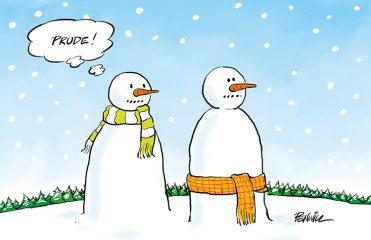 Funny14 - Prudish Snowman Branded Christmas Card