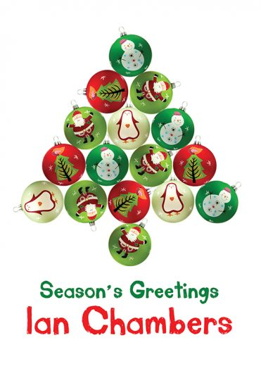 Personalised2 - Baubles Tree Branded Christmas Card