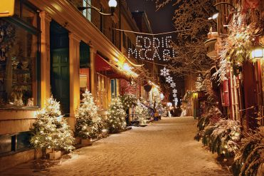 Personalised3 - Snowy Street Branded Christmas card