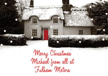 Personalised4 - Snowy Cottage Branded Christmas card