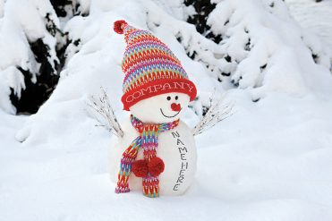 Personalised7 - Smiley Snowman Branded Christmas card