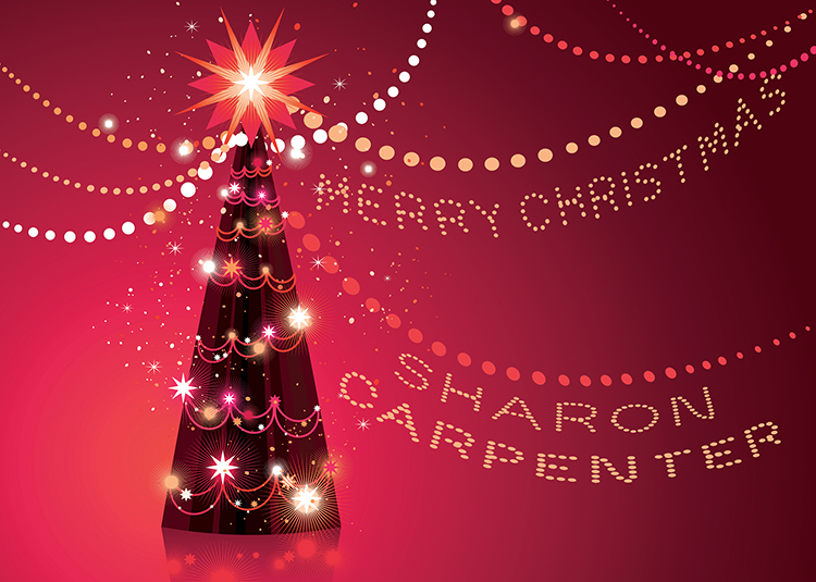 Personalised8 - Glowing Tree Branded Christmas card