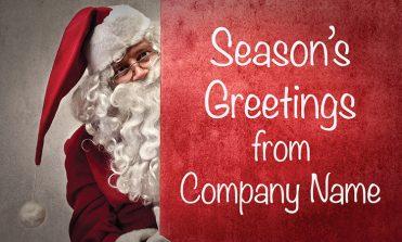 1615 - Peeping Santa Branded Christmas Card