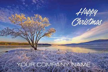 1639 - Frosty Lake Branded Christmas Card