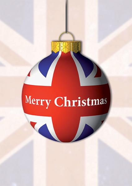 1640 - UK Bauble Branded Christmas Card