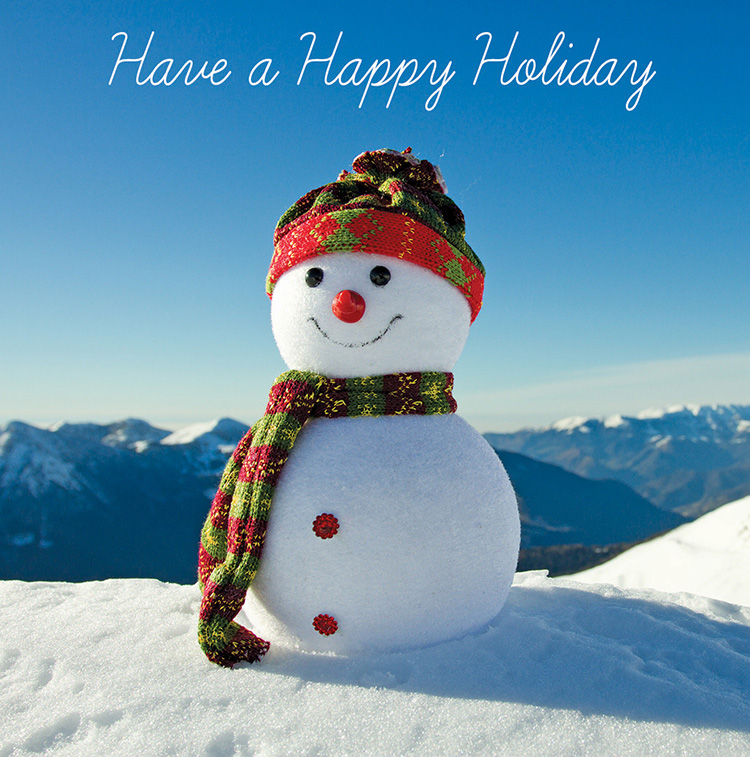 1654 - Happy Snowman Branded Christmas Card
