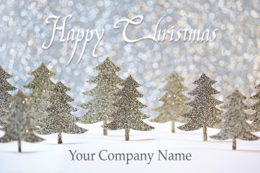 1666 - Tinsel Forest Branded Christmas Card