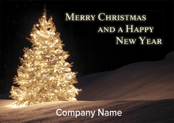 1670 - Glowing Tree Branded Christmas Card
