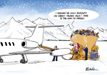 Funny10 - Sleigh by Air Branded Christmas Card