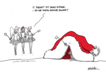 Funny12 - Santa's Hat & Fairies Branded Christmas Card