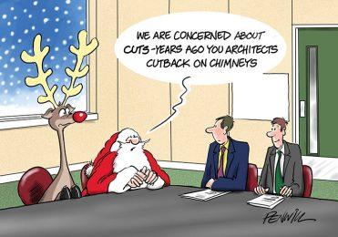Funny4 - Cutback on Chimneys Branded Christmas Card
