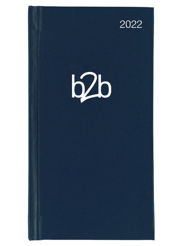 Amathus Pocket Diary - Small Weekly Diary - White Pages - Blue, 2022
