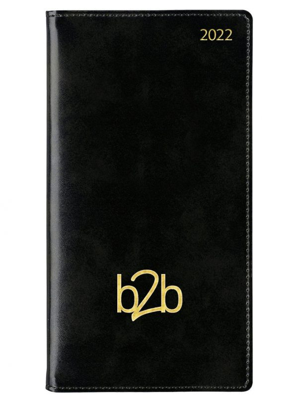 Classic Pocket Diary - Week to View Diary - Cream Pages - Black, 2022