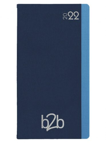 Duo Pocket Diary - Week to View Diary - White Pages - Blue-Blue, 2022