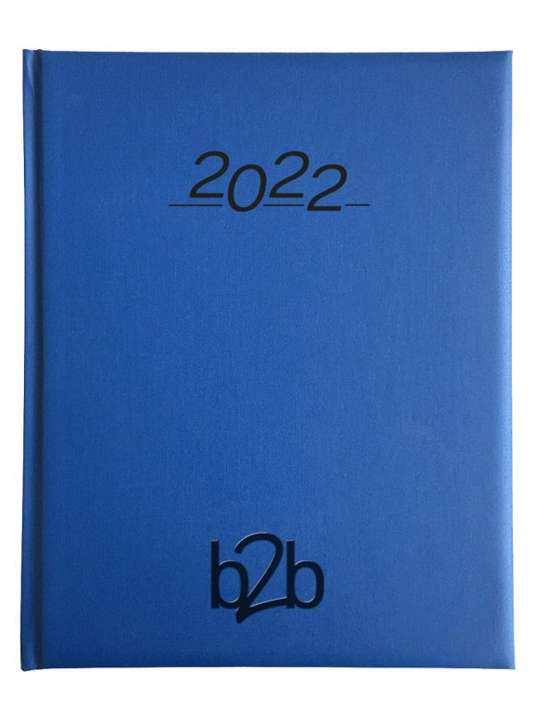 Nero Management Desk Diary - Week to View Diary - White Pages - Blue, 2022