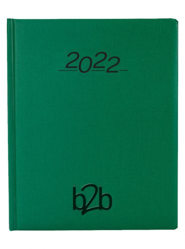 Nero Management Desk Diary - Week to View Diary - White Pages - Green, 2022