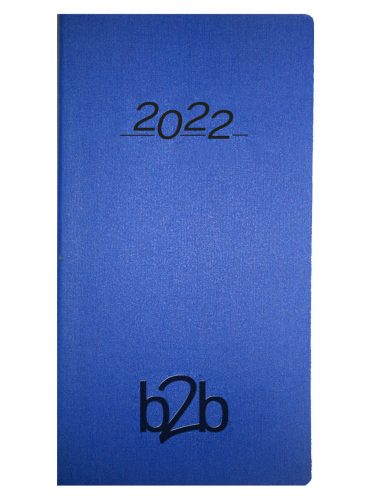 Nero Pocket Diary - Week to View Diary - White Pages - Blue, 2022