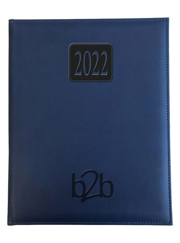 Rio Management Desk Diary - Week to View Diary - Cream Pages - Blue, 2022