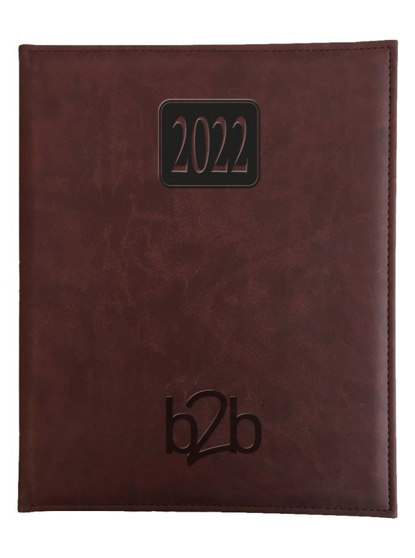 Rio Management Desk Diary - Week to View Diary - Cream Pages - Burgundy, 2022