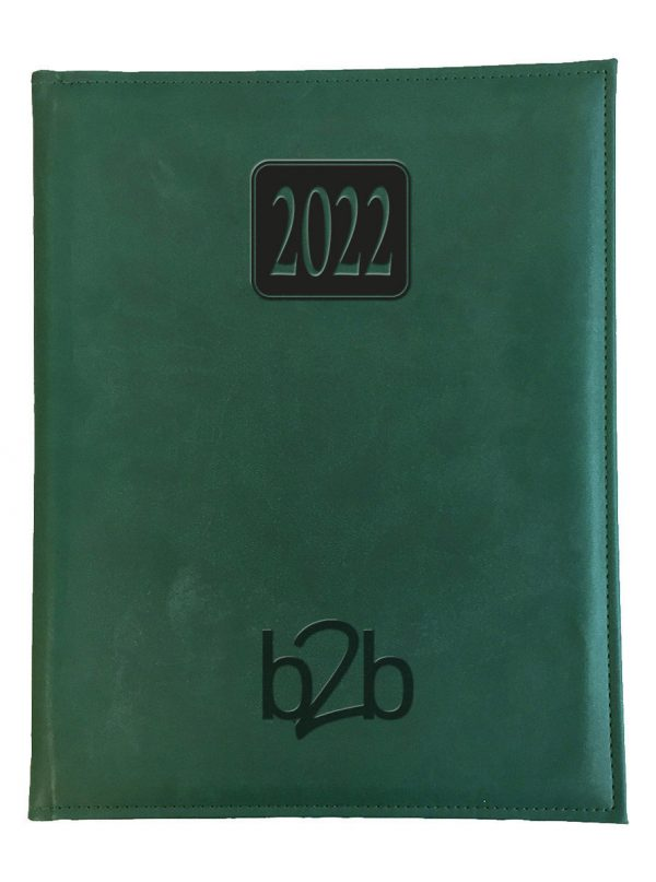 Rio Management Desk Diary - Week to View Diary - Cream Pages - Green, 2022