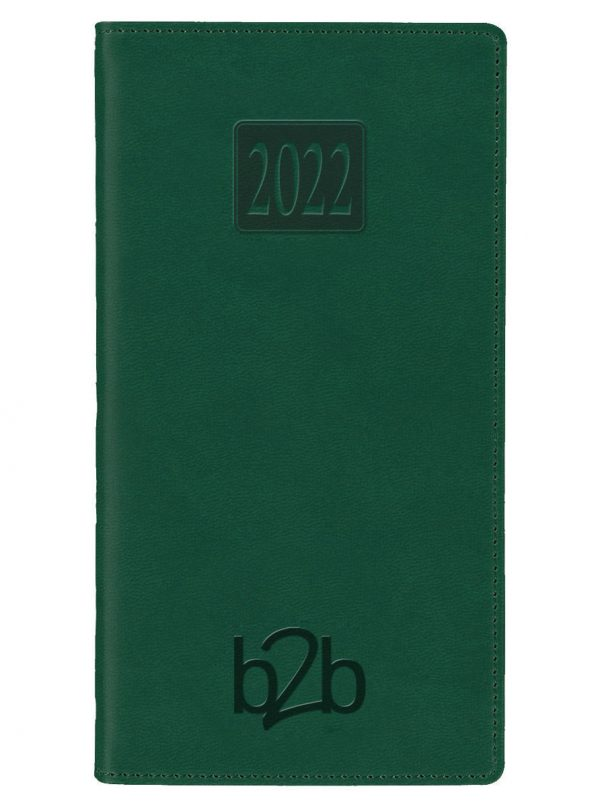 Rio Pocket Diary - Week to View Diary - Cream Pages - Green, 2022