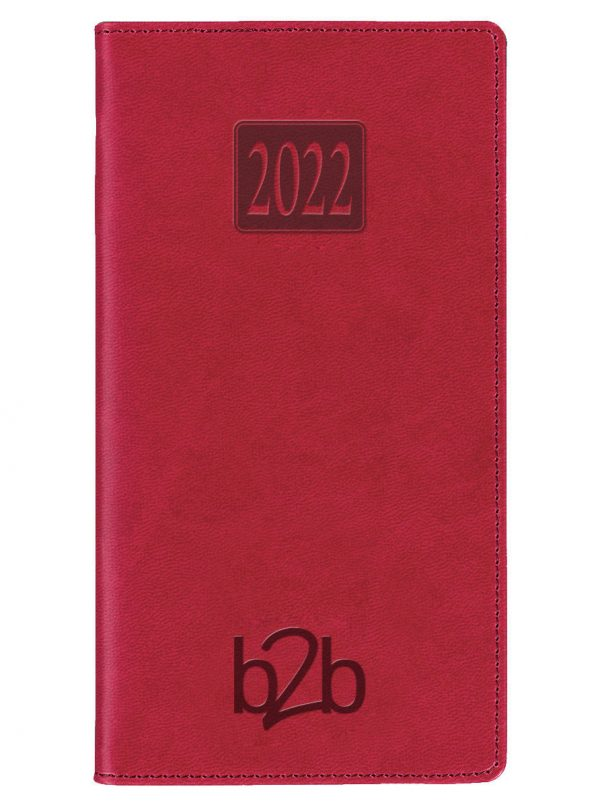 Rio Pocket Diary - Week to View Diary - Cream Pages - Red, 2022