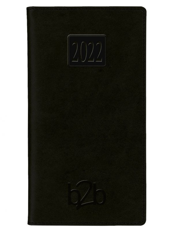 Rio Pocket Diary - Week to View Diary - White Pages - Black, 2022