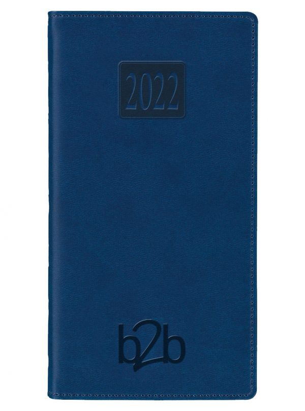 Rio Pocket Diary - Week to View Diary - White Pages - Blue, 2022