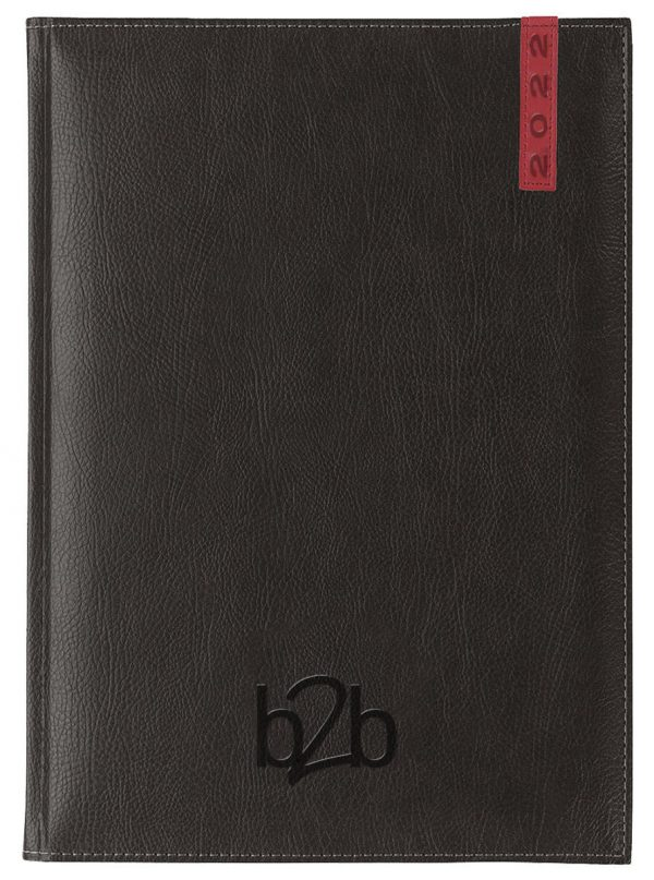 Santiago A5 Diary - Page A Day Diary - Cream Pages - Black-Red, 2022
