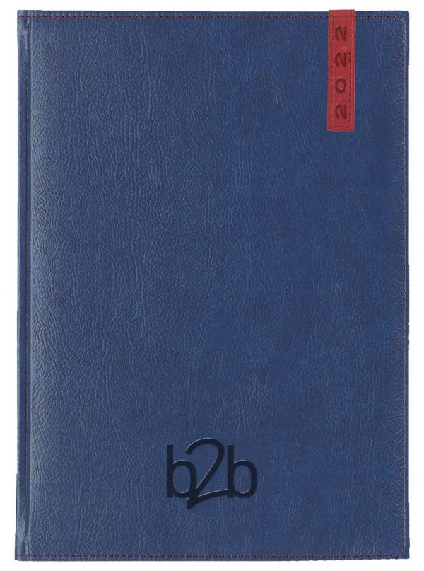 Santiago A5 Diary - Page A Day Diary - White Pages - Blue-Red, 2022