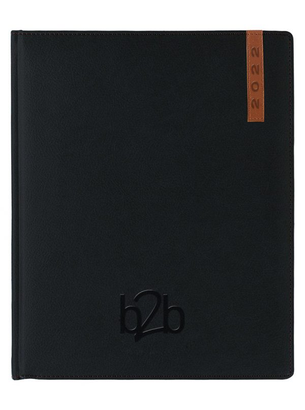 Santiago Management Desk Diary - Week to View Diary - Cream Pages - Black-Tan, 2022