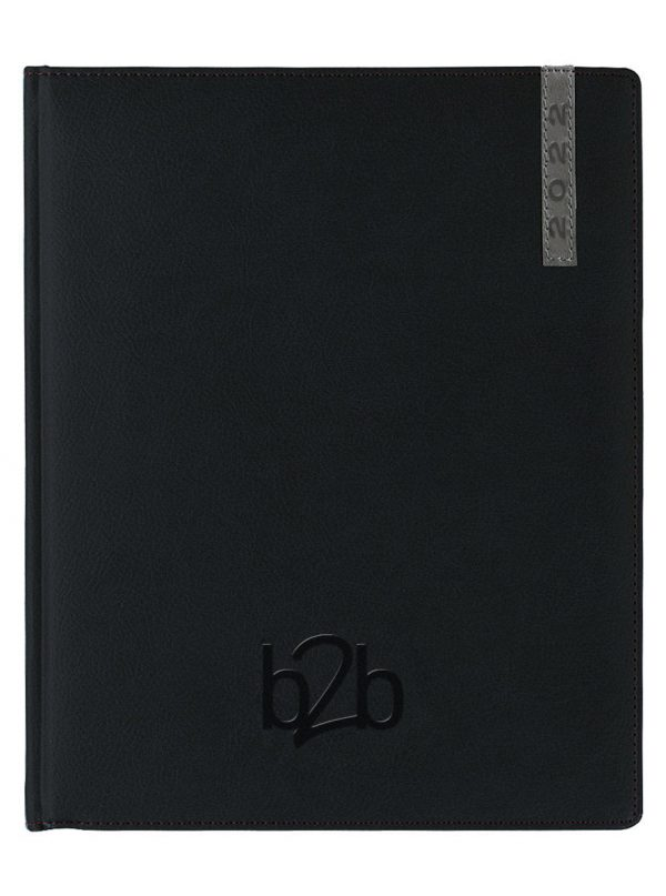 Santiago Management Desk Diary - Week to View Diary - White Pages - Black-Gunmetal, 2022