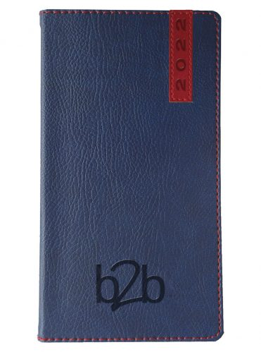 Santiago Pocket Diary - Week to View Diary - White Pages - Blue-Red, 2022