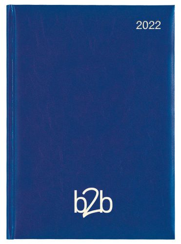 Strata A5 Diary - Week to View Diary - White Pages - Mid Blue, 2022