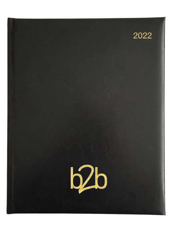 Strata Management Desk Diary - Week to View Diary - White Pages - Black, 2022