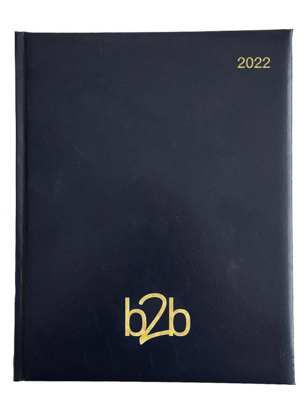 Strata Management Desk Diary - Week to View Diary - White Pages - Blue, 2022