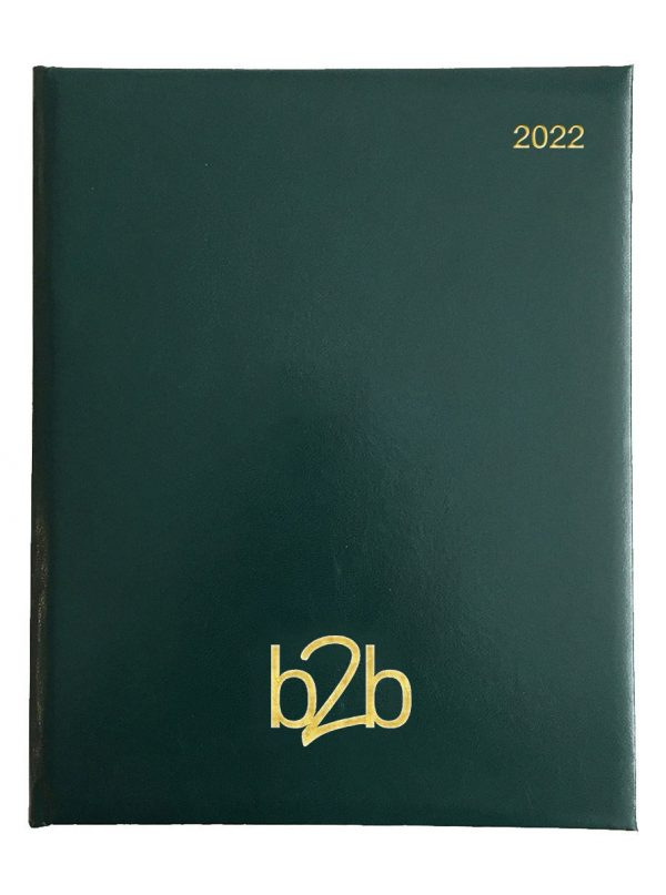 Strata Management Desk Diary - Week to View Diary - White Pages - Green, 2022